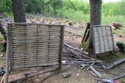 Woven Sussex fencing panels