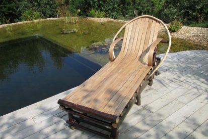 Steam bent chestnut lounger